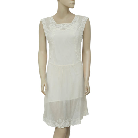 Mes Demoiselles Paris Embroidered Tunic Dress XS