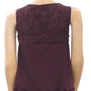 Odd Molly Anthropologie Embroidered Eyelet Wrap Blouse Top Lace S