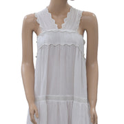 Ulla johnson White Lace Maxi Dress Tiered Beach Wear Holiday Cotton XS Nw
