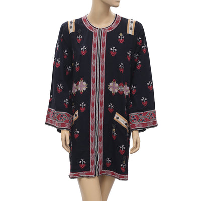Ulla Johnson Afgani Embroidered Jacket Tunic Dress XS