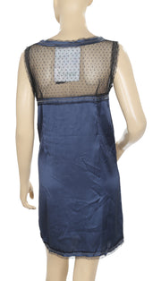 Desigual Mesh Dot Embroidered Embellished Dress S
