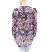 Monsoon Paisley Printed Tunic Top M