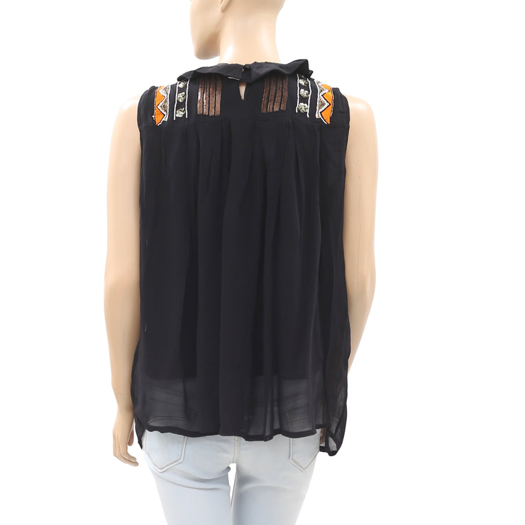 Marccain Bead Embellished Sleeveless  Tunic Top Small S