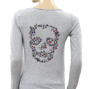 Zadig & Voltaire Tunisien ML Skull Stars T-Shirt Top