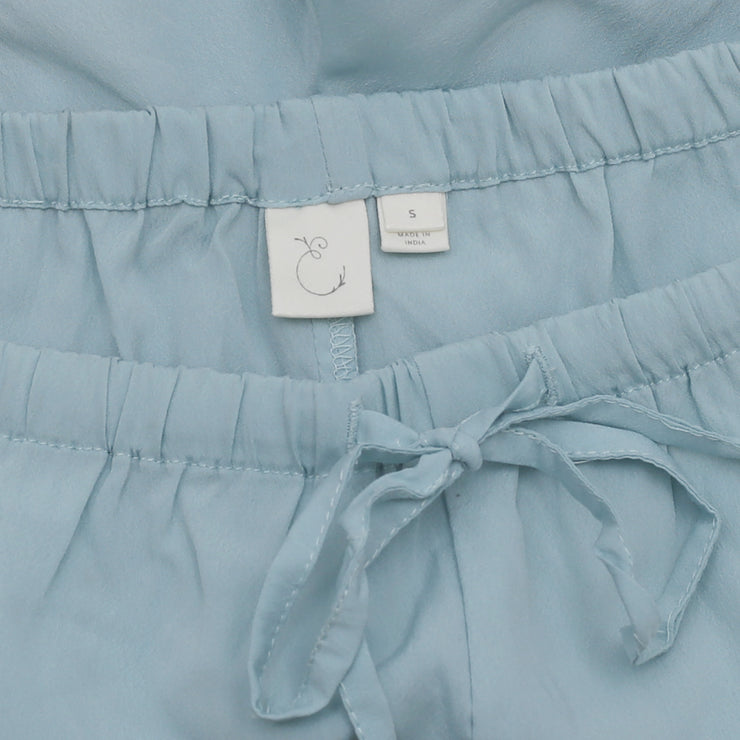 New Eloise Anthropologie Slip Front Tie Wrap Blue Summer Shorts S