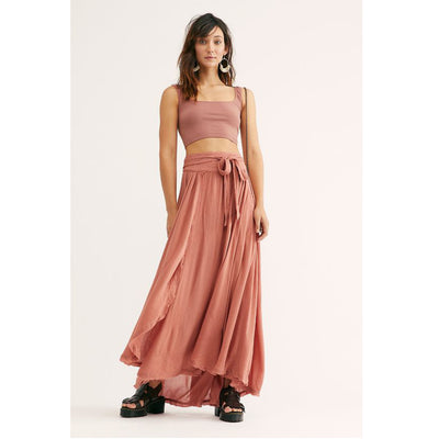 Free People Coast To Coast Wrap Maxi Skirt S