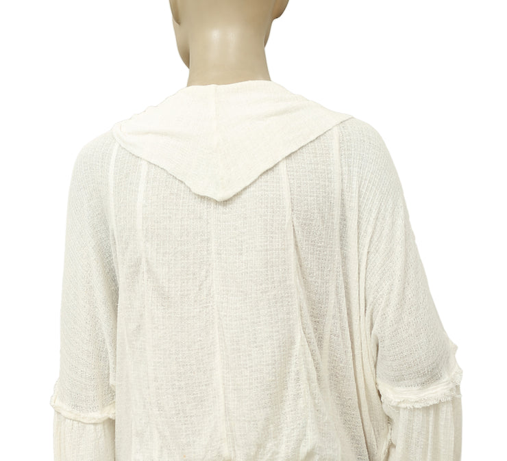 Free People Embroidered Ivory Blouse Top M