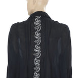 Free People Floral Embroidered Top M