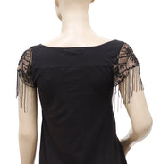 Forever Embellished Black Blouse Top S