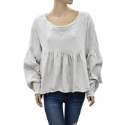 Free People Lucy Pullover Top S
