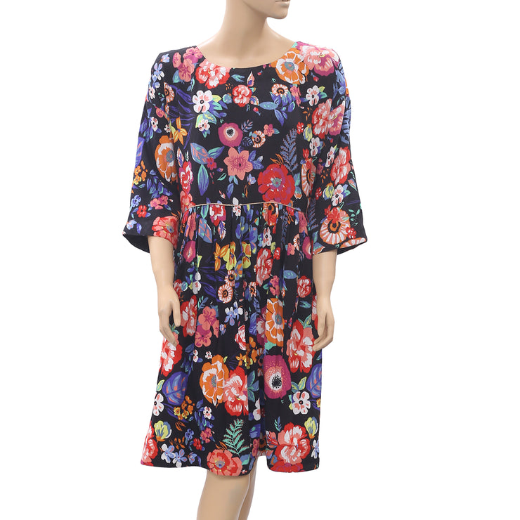 Maeve Anthropologie Floral Printed Midi Dress L