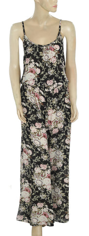 Elan Floral Printed Jumpsuit Small S