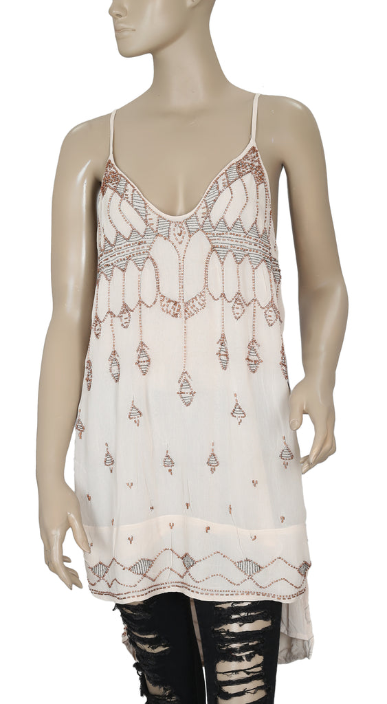 36970a0e712 Free People Shimmer Bead Embellished Dress S – White Chocolate Couture