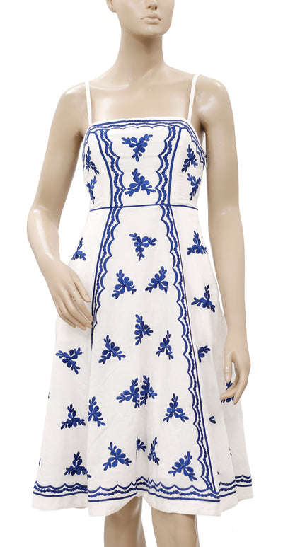 Anthropologie Moulinette Soeurs Lidia Embroidered White Dress XS 0