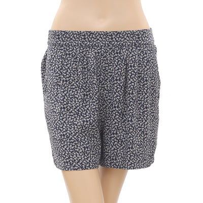 NWT Cooperative Urban Outfitters Printed smocked Pocket Navy Shorts M