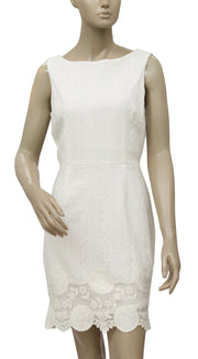 Poem By Oliver Bonas Sale Broiderie Anglaise Shift Dress M 10