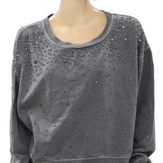 Free People Embellished Cool Rider Pullover Top M