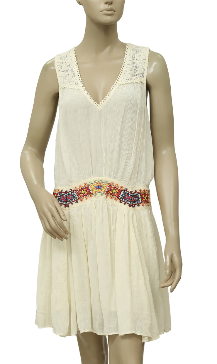 Free People Embroidered Lace Dress M