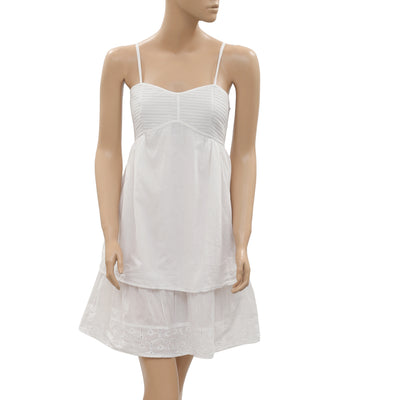 7 Shades of Jane Eyelet Embroidered White Mini Dress S