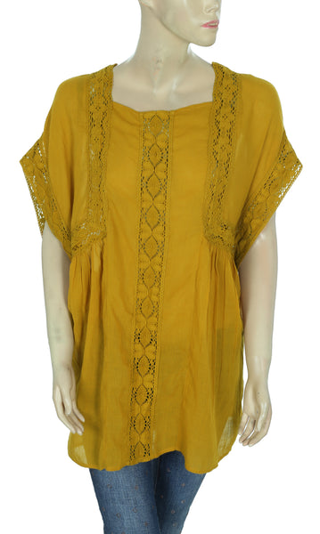Free People Willow Rose Tunic Beach Cover Up S