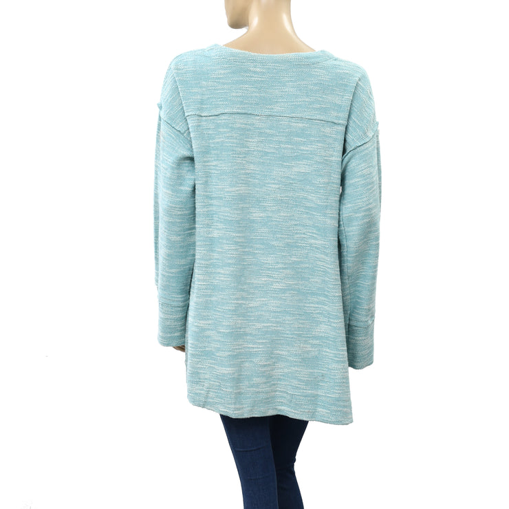 Soft Surroundings Knitted Oversized Tunic Top M