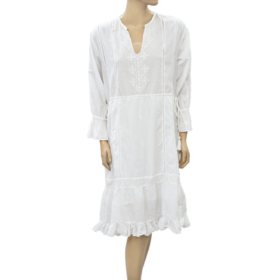 Ulla Johnson Embroidered Ivory Mini Dress S
