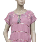 Free People Embroidered Pink Blouse Top M