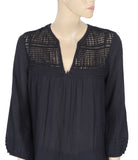 Velvet by Graham & Spencer Crochet Black Top M