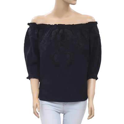 Uterque Zara Black Shirt Blouse Top S