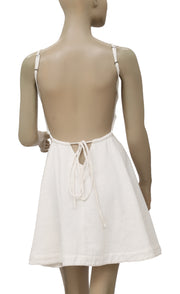 Free People Ridin Solo Backless White Mini Dress S
