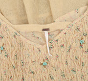 T Free People Time's a Wastin' Tunic Printed Embroidered Blue Top S