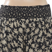 Free People Floral Printed Shorts Smocked High Waisted Black Boho S