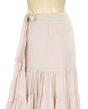 New Free People Ruffles All Around Peach Wrap Maxi Skirt Small S