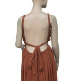 Free People Sleeveless Cutout Draw String Brown Dress M