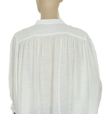 Maeve Buttondown Ivory Shirt Top M