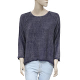 Urban Outfitters Ecote High Low Gauze Blue Pullover Blouse Top M