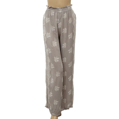 Urban Outfitters High Waisted Printed Wide-lag Plazzo Pants