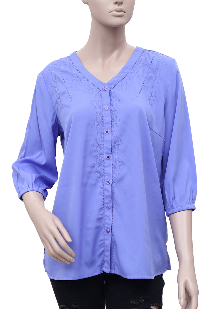 Fashion Bug Embroidered Blouse Shirt Top S