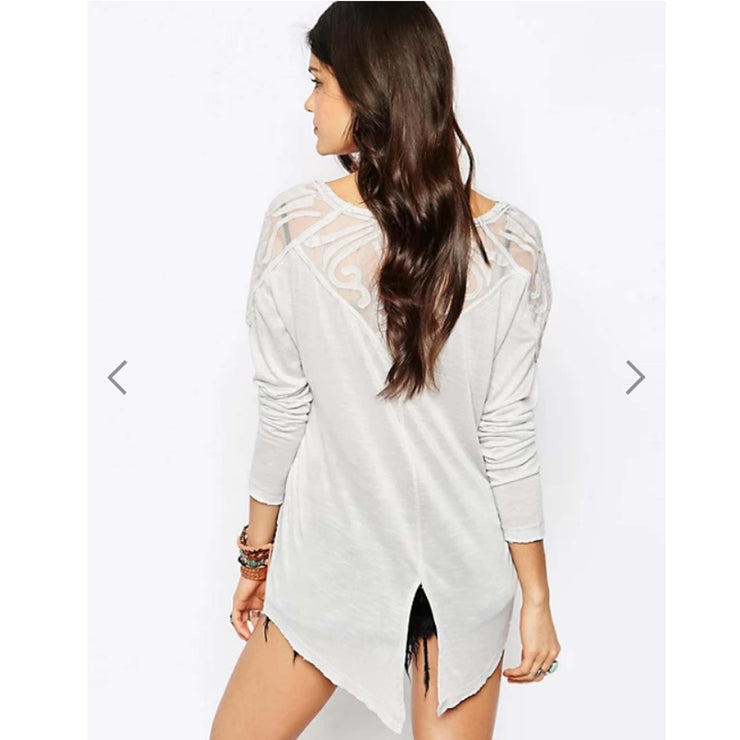 Free People The Gatsby Gray Tunic Top