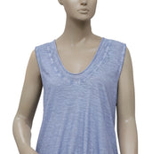 Free People We The Free Blue Sleeveless Blouse Top S