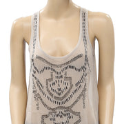 Pins And Needles Urban Outfitters Embellished Chiffon Tank Top M