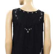 Odd Molly Anthropologie Summer Breeze Embroidered Tank Top S 1