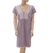 Odd Molly Anthropologie Embroidered Purple Mini Dress XL
