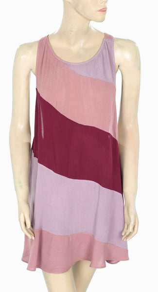 New Free People Endless Summer Cutout Multicolor Sleeveless Dress Small S
