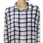 Street One Plaids & Check Blouse Shirt Top M