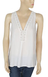 Joie Crochet Lace White Cotton Top Medium M