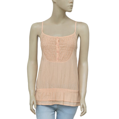 Bonpoint Kids Girls Sleeveless Ruched Casual Peach Blouse Top 4 Years