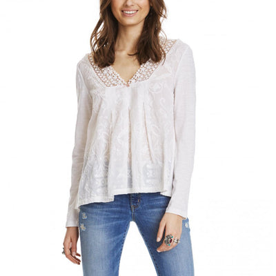 Odd Molly Anthropologie Pleasant Embroidered Blouse Top L