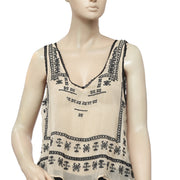 Ecote Piper Tank Embroidered Top M