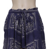 Denim & Supply Printed Navy Mini Skirt S